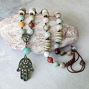 Украшения handmade. Livemaster - original item Beads pendant Hamsa. Handmade.
