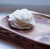 Украшения handmade. Livemaster - original item White rose. Felt brooch.. Handmade.