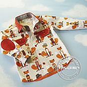 """Работы для детей, ручной работы. Ярмарка Мастеров - ручная работа Рубашка """"Рыжий лис"""". Handmade."""