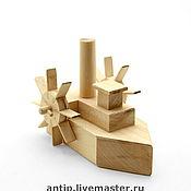 """Куклы и игрушки ручной работы. Ярмарка Мастеров - ручная работа """"Пароход"""" деревянная игрушка.. Handmade."""