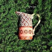 Для дома и интерьера ручной работы. Ярмарка Мастеров - ручная работа Керамические кувшины с орнаментами по мотивам латышских варежек. Handmade.