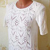 "Одежда handmade. Livemaster - original item blouse made of cotton""White irises"". Handmade."