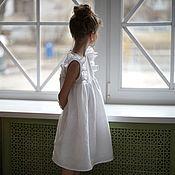 Платье ручной работы. Ярмарка Мастеров - ручная работа Платье Зефир из льна. Handmade.