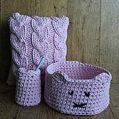 """Для дома и интерьера ручной работы. Ярмарка Мастеров - ручная работа Комплект для дома """"Розовый пион"""". Handmade."""