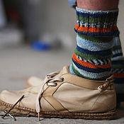 Аксессуары ручной работы. Ярмарка Мастеров - ручная работа Мужские вязаные носки. Handmade.