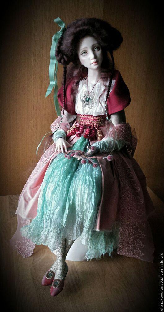 Коллекционные куклы ручной работы. Ярмарка Мастеров - ручная работа. Купить Наталия авторская кукла из флюмо 55см сидя. Handmade.