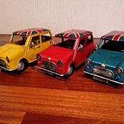 Скульптуры ручной работы. Ярмарка Мастеров - ручная работа Ретро-модель автомобиля MINI COOPER для декора (№CJ110434). Handmade.