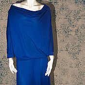 Одежда handmade. Livemaster - original item Jersey dress blue