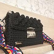 Классическая сумка ручной работы. Ярмарка Мастеров - ручная работа Универсальная черная сумочка. Handmade.