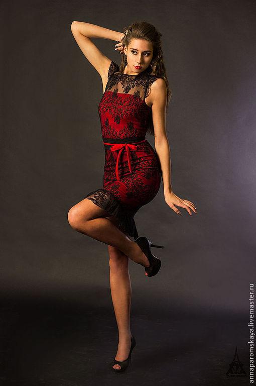 Платья ручной работы. Ярмарка Мастеров - ручная работа. Купить Платье. Handmade. Гипюр, Коктейльное платье, черное платье, гипюр