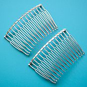 Материалы для творчества handmade. Livemaster - original item Hair comb (pair). Base with silver coating. Handmade.