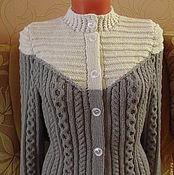 Одежда handmade. Livemaster - original item Jacket with white yoke. Handmade.