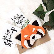 "Одежда ручной работы. Ярмарка Мастеров - ручная работа Маска для сна ""Красная панда"". Handmade."