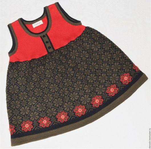 """Одежда для девочек, ручной работы. Ярмарка Мастеров - ручная работа. Купить Сарафан """"Норвежский цветок"""". Handmade. Сарафан, одежда для девочки"""