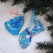 Подарки к праздникам handmade. Livemaster - original item Set of 3 Christmas ornaments