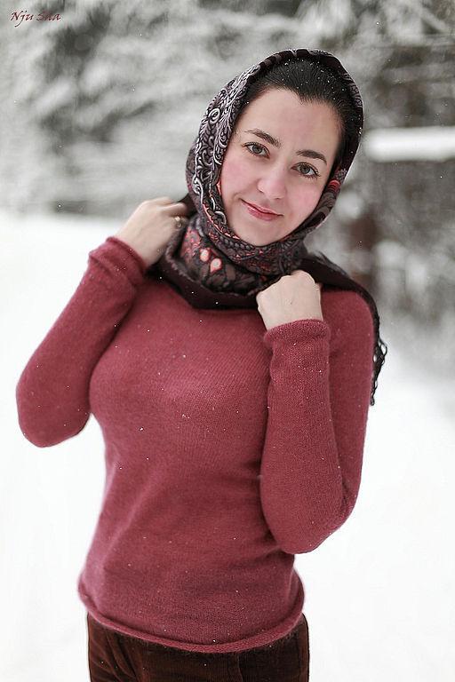 """Кофты и свитера ручной работы. Ярмарка Мастеров - ручная работа. Купить Джемпер """"Winter Berry"""". Handmade. Джемпер, шелк, зима"""
