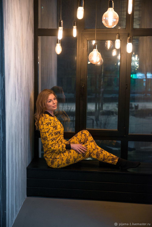 """Комбинезон-пижама """"Дино"""" желтый, Комбинезоны, Саратов,  Фото №1"""