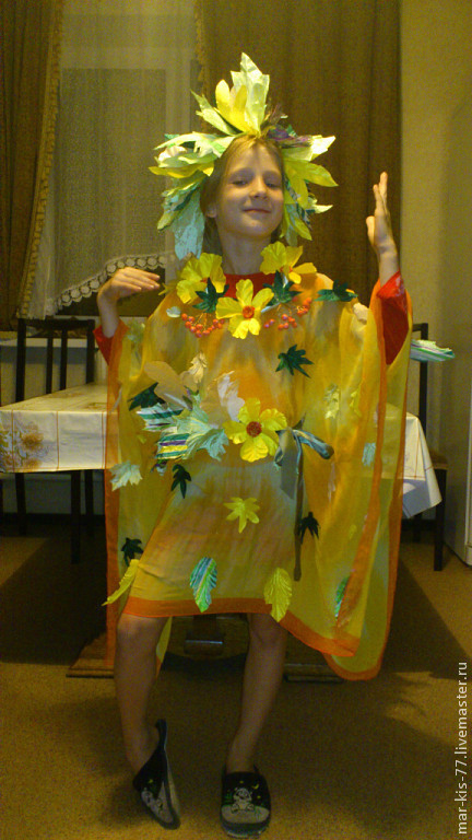 Как сделать костюм листочка
