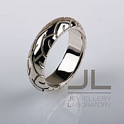 Свадебный салон handmade. Livemaster - original item Motorcycle ring in the form of a tire made of silver. Handmade.