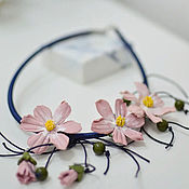Украшения handmade. Livemaster - original item Necklace: Delicate cosmos bipinnatus. Handmade.