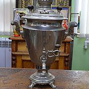 Винтаж handmade. Livemaster - original item Samovar Vintage factory TPZ in Tula GLASS 3-4 liters. Handmade.
