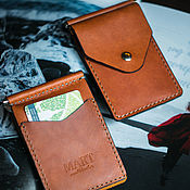 Сумки и аксессуары handmade. Livemaster - original item Clip for money, cards and business cards Derby. Handmade.