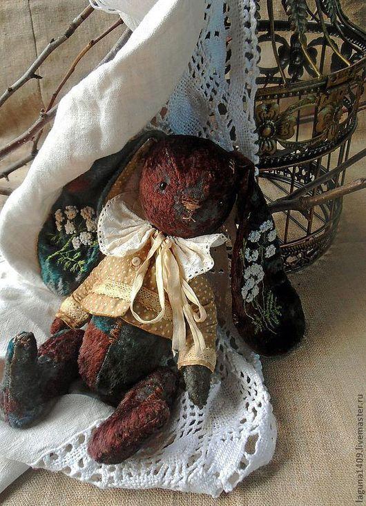 """Мишки Тедди ручной работы. Ярмарка Мастеров - ручная работа. Купить Заяц """"Поль"""". Handmade. Винтажный стиль, стеклянные глазки"""