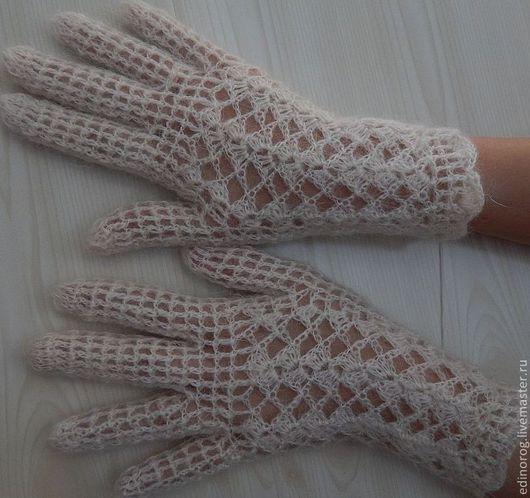 Варежки, митенки, перчатки ручной работы. Ярмарка Мастеров - ручная работа. Купить перчатки Зимний узор. Handmade. Теплые перчатки