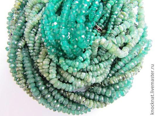 Для украшений ручной работы. Ярмарка Мастеров - ручная работа. Купить Изумруд природный бусина (нить 40-41 см). Handmade.