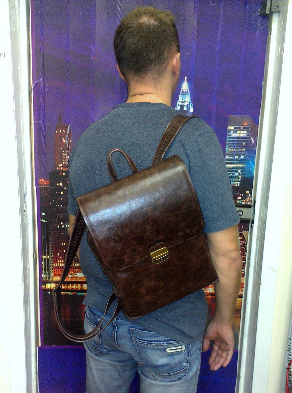 Backpack leather 300, Backpacks, St. Petersburg,  Фото №1
