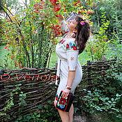 """Одежда ручной работы. Ярмарка Мастеров - ручная работа Платье """"Романтика полевых цветов"""".вышивка бисером.размер 52-54. Handmade."""