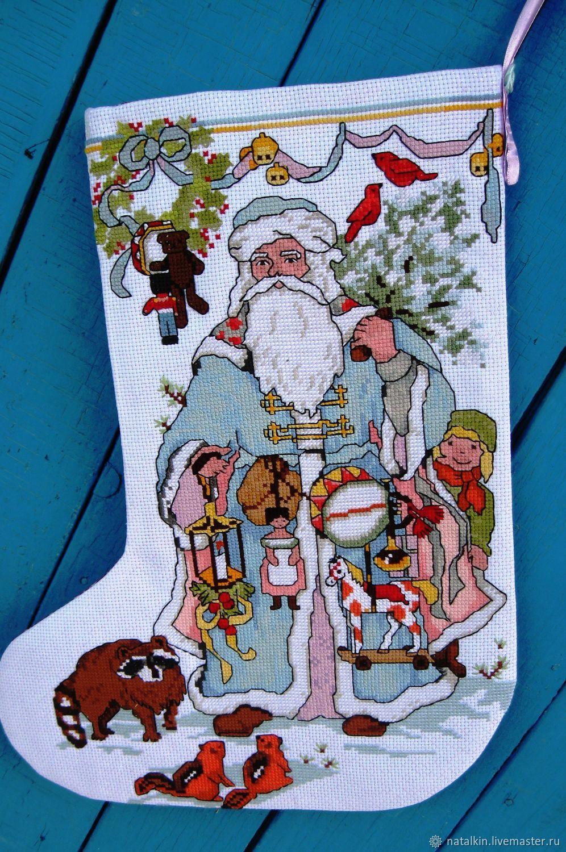 Вышивка для новогоднего сапожка 30