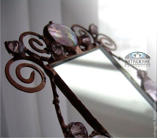 """Декорированные зеркальца ручной работы. Ярмарка Мастеров - ручная работа. Купить Зеркало """"Для принцессы"""". Handmade. Розовый, зеркальце карманное"""