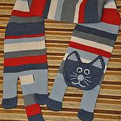 Работы для детей, ручной работы. Ярмарка Мастеров - ручная работа Супер полосатый котошарф. Handmade.