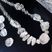 Украшения handmade. Livemaster - original item A necklace of Icicles and Icicles wild quartz. Handmade.