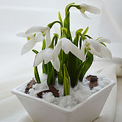 Цветы и флористика handmade. Livemaster - original item snowdrops. interior arrangement.. Handmade.