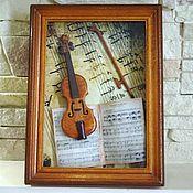 Сувениры и подарки ручной работы. Ярмарка Мастеров - ручная работа миниатюрная скрипка. Handmade.
