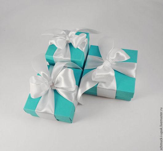 Упаковка ручной работы. Ярмарка Мастеров - ручная работа. Купить Набор коробок в стиле Тиффани (для украшений). Handmade. Шмуки