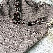 """Одежда ручной работы. Ярмарка Мастеров - ручная работа Жилет """"Тёмное какао"""" жилет вязаный жилет ручной работы. Handmade."""