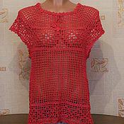 Одежда ручной работы. Ярмарка Мастеров - ручная работа Топ ярко розовый. Handmade.