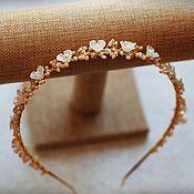 Свадебный салон handmade. Livemaster - original item Handmade hair band made of flowers and beads. Handmade.
