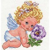 """Схемы для вышивки ручной работы. Ярмарка Мастеров - ручная работа Набор для вышивания Алиса """"Ангелок счастья"""". Handmade."""