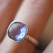 Украшения ручной работы. Ярмарка Мастеров - ручная работа 17.5 иолит кольцо серебряное. Handmade.
