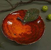Посуда ручной работы. Ярмарка Мастеров - ручная работа блюдо Яблочко наливное. Handmade.