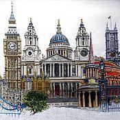 """Картины и панно ручной работы. Ярмарка Мастеров - ручная работа Вышитая картина """"Лондон"""". Handmade."""