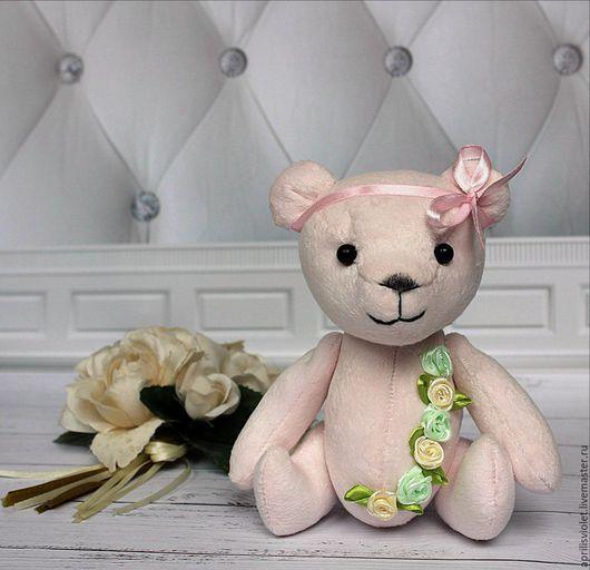 Игрушки животные, ручной работы. Ярмарка Мастеров - ручная работа. Купить Мишка АЙНА. Handmade. Бледно-розовый, мишутка, красивая