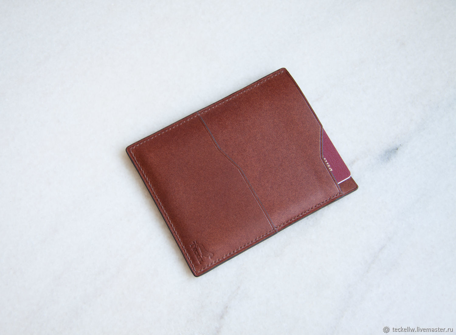 Case for passport, documents, cards made of genuine leather, Passport cover, Moscow,  Фото №1