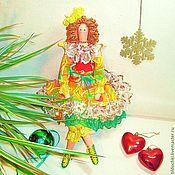 Куклы и игрушки ручной работы. Ярмарка Мастеров - ручная работа Вивьен - Фея новогоднего настроения Жар - Птица. Handmade.