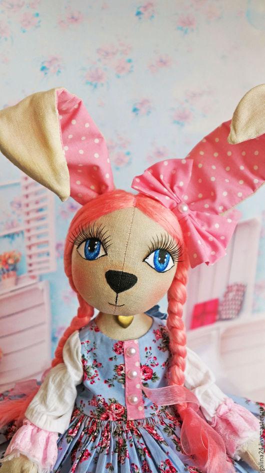 Куклы Тильды ручной работы. Ярмарка Мастеров - ручная работа. Купить Куколка Зайка. Handmade. Розовый, кукла в подарок