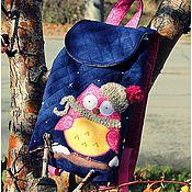 Сумки и аксессуары ручной работы. Ярмарка Мастеров - ручная работа Утепленный детский рюкзак с аппликацией. Handmade.